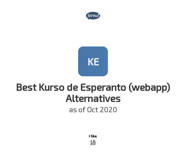 Best Kurso de Esperanto (webapp) Alternatives