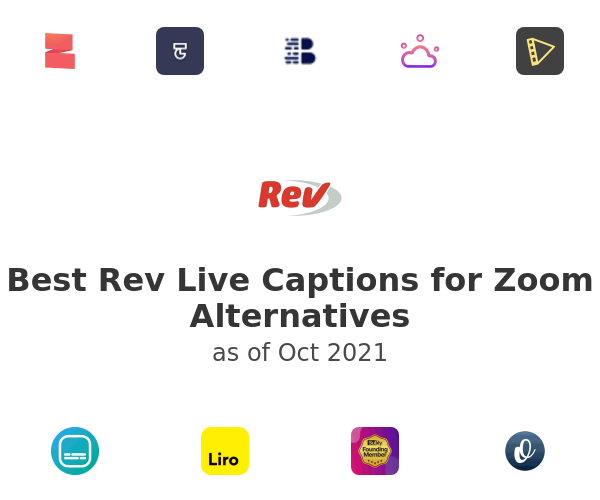 Best Rev Live Captions for Zoom Alternatives