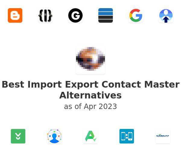 Best Import Export Contact Master Alternatives