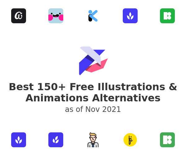 Best 150+ Free Illustrations & Animations Alternatives