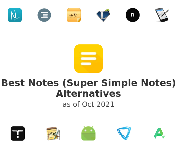 Best Notes (Super Simple Notes) Alternatives