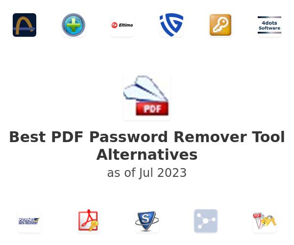 Best PDF Password Remover Tool Alternatives