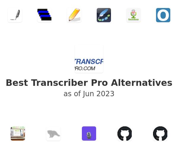 Best Transcriber Pro Alternatives