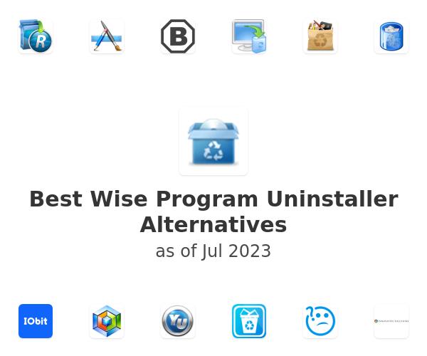 Best Wise Program Uninstaller Alternatives