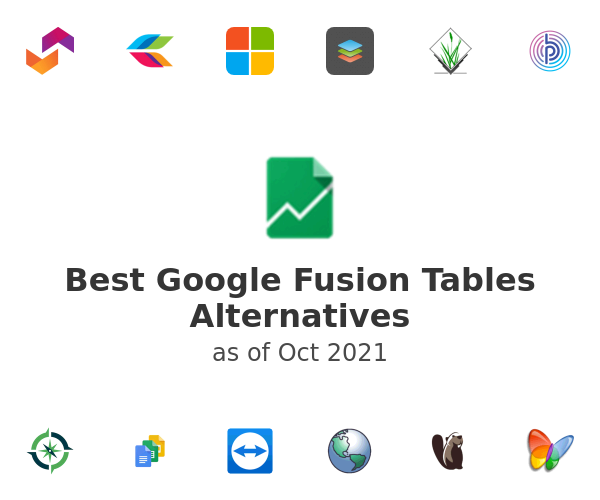 Best Google Fusion Tables Alternatives