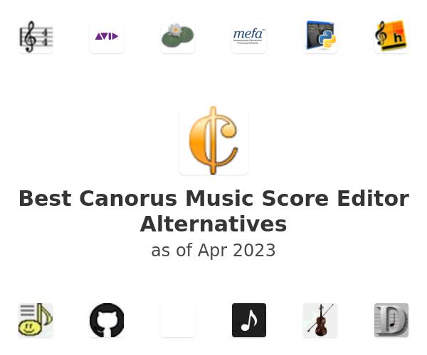 Best Canorus Music Score Editor Alternatives