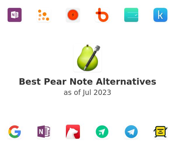 Best Pear Note Alternatives