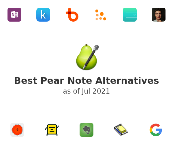 Best Pear Note Alternatives
