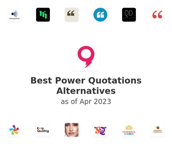 Best Power Quotations Alternatives