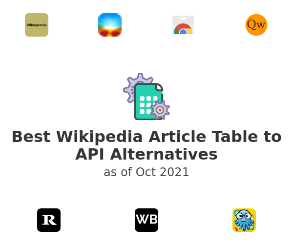 Best Wikipedia Article Table to API Alternatives