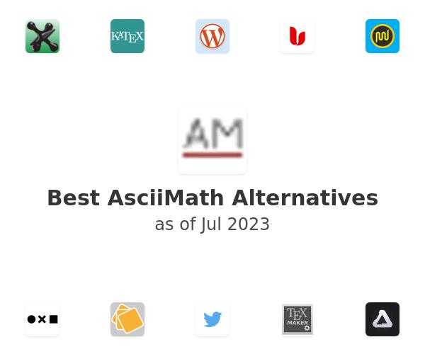 Best AsciiMath Alternatives