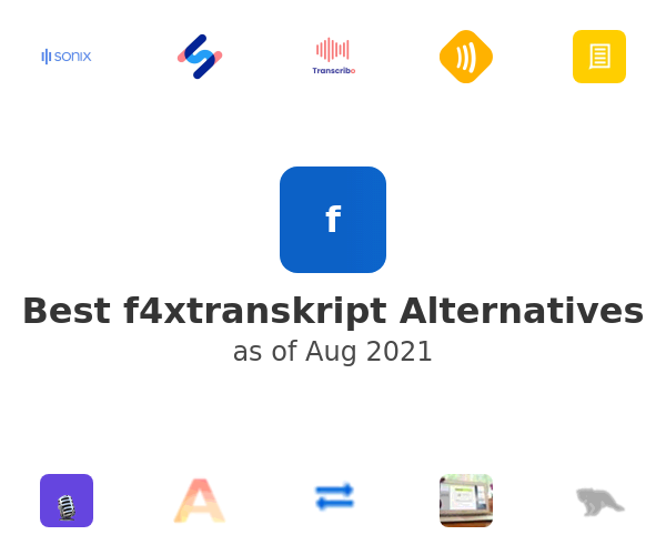 Best f4xtranskript Alternatives