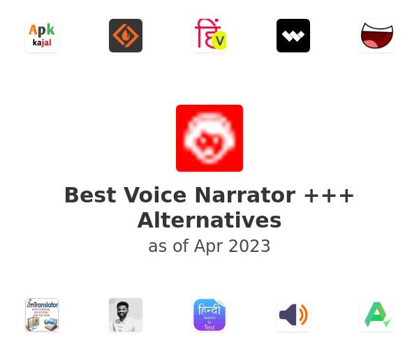Best Voice Narrator +++ Alternatives