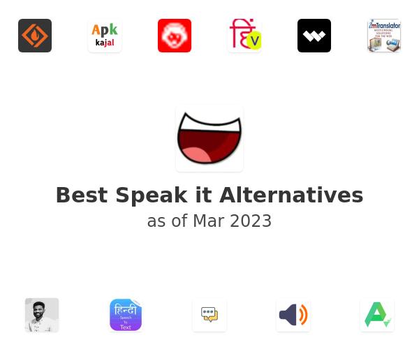 Best Speak it Alternatives