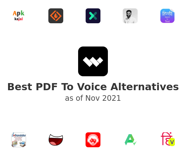 Best PDF To Voice Alternatives