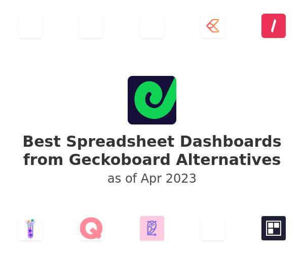 Best Spreadsheet Dashboards from Geckoboard Alternatives