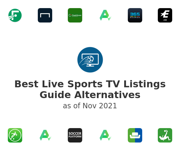 Best Live Sports TV Listings Guide Alternatives