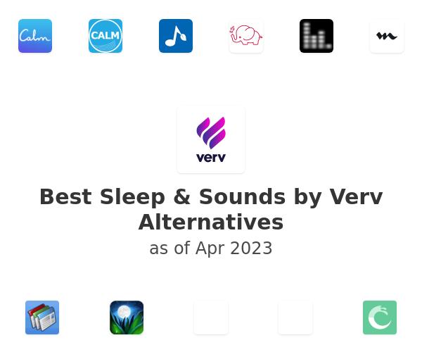 Best Sleep & Sounds by Verv Alternatives