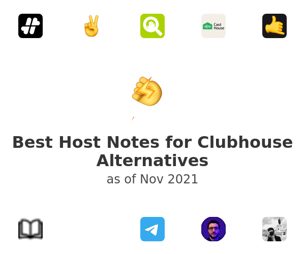 Best Host Notes for Clubhouse Alternatives