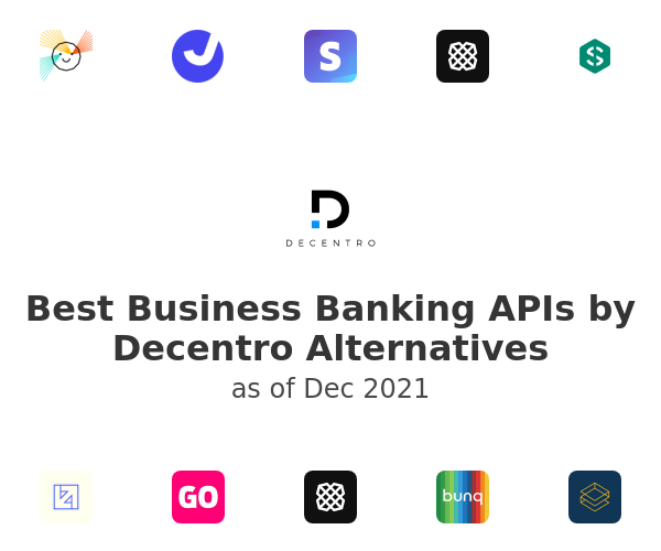 Best Business Banking APIs by Decentro Alternatives