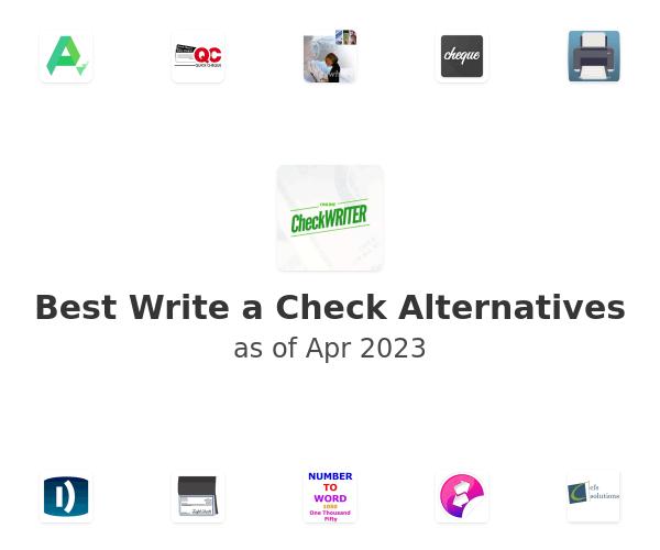 Best Write a Check Alternatives