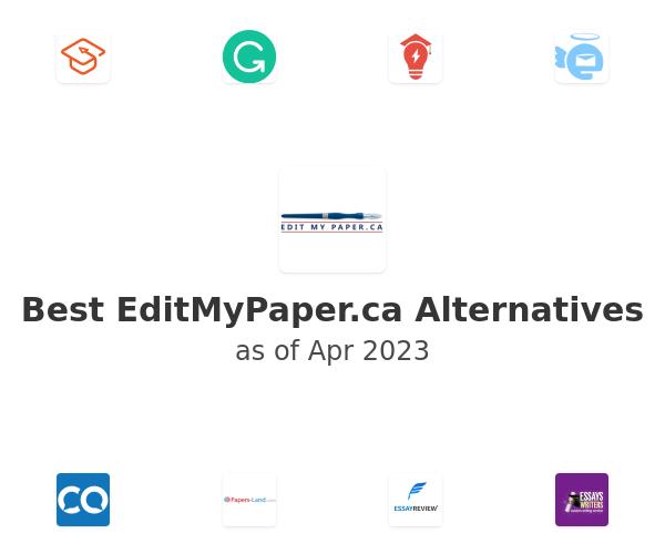 Best EditMyPaper.ca Alternatives