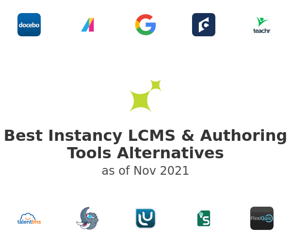 Best Instancy LCMS & Authoring Tools Alternatives