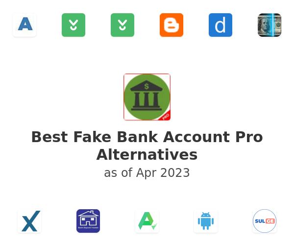 Best Fake Bank Account Pro Alternatives