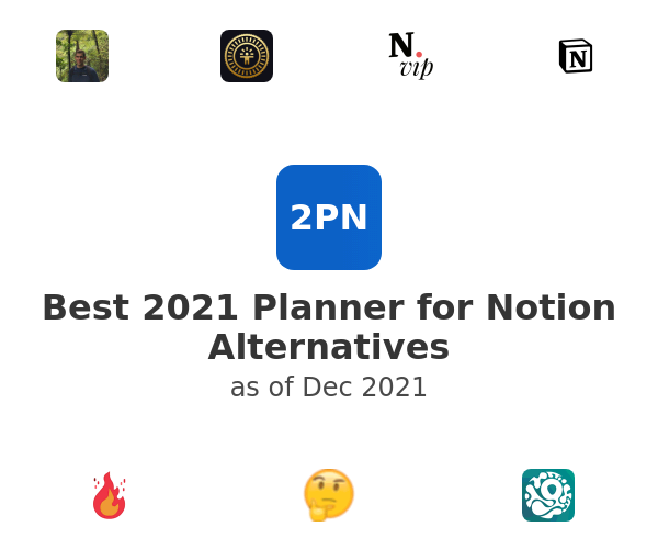 Best 2021 Planner for Notion Alternatives