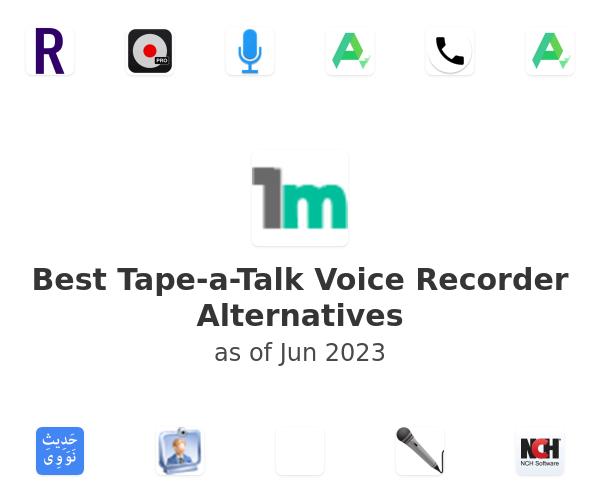 Best Tape-a-Talk Voice Recorder Alternatives