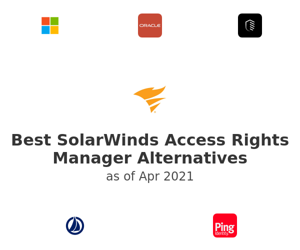 Best SolarWinds Access Rights Manager Alternatives