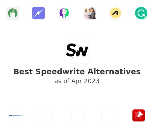 Best Speedwrite Alternatives