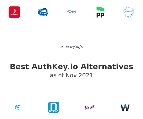 Best AuthKey.io Alternatives
