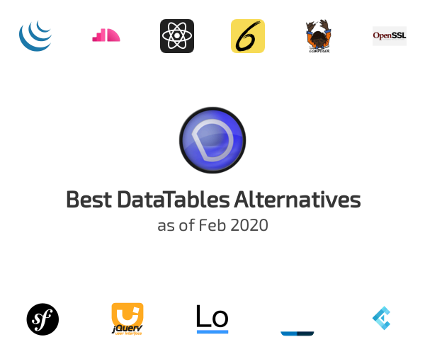 Best DataTables Alternatives