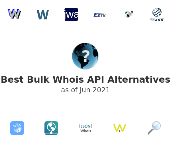 Best Bulk Whois API Alternatives