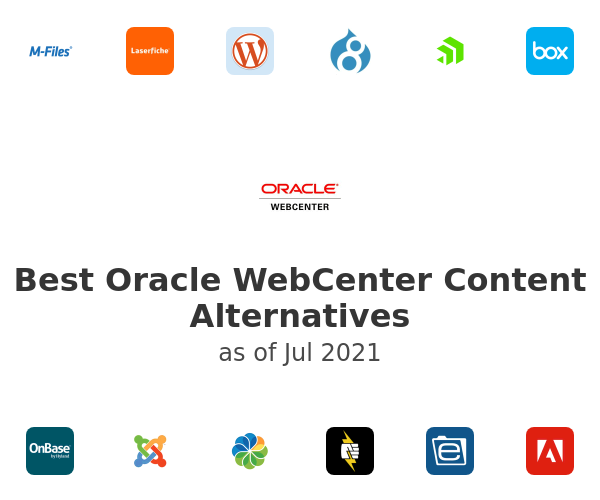 Best Oracle WebCenter Content Alternatives