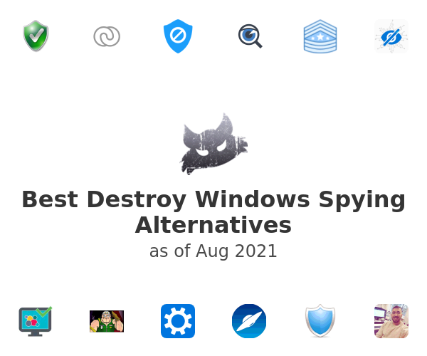 Best Destroy Windows Spying Alternatives