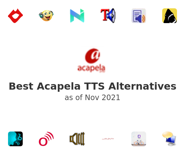 Best Acapela TTS Alternatives