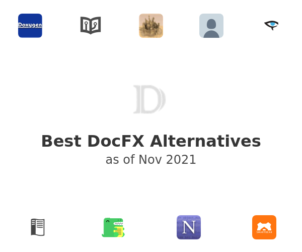 Best DocFX Alternatives