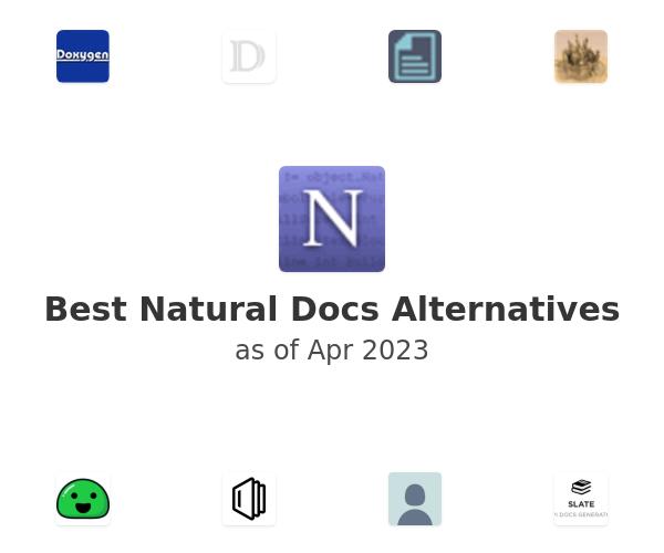 Best Natural Docs Alternatives