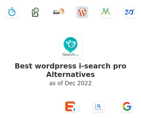 Best wordpress i-search pro Alternatives