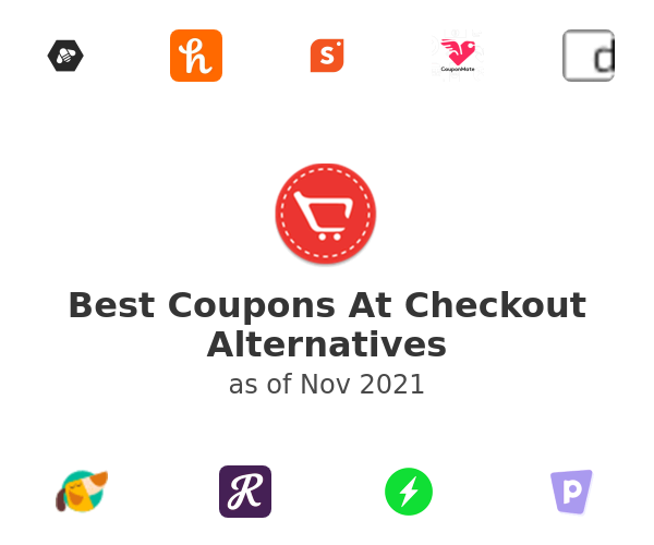 Best Coupons At Checkout Alternatives