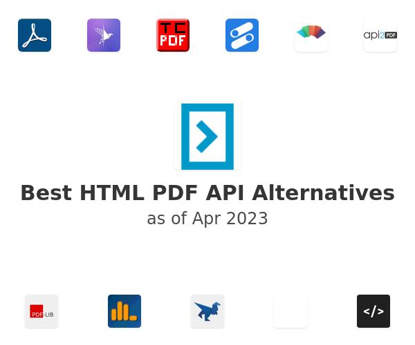 Best HTML PDF API Alternatives