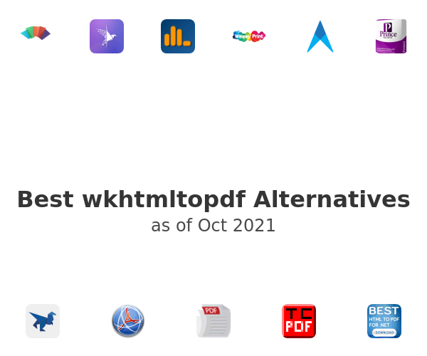Best wkhtmltopdf Alternatives