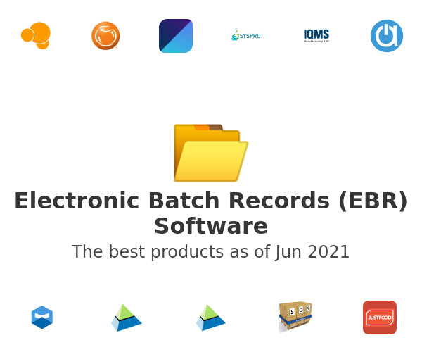 Electronic Batch Records (EBR) Software
