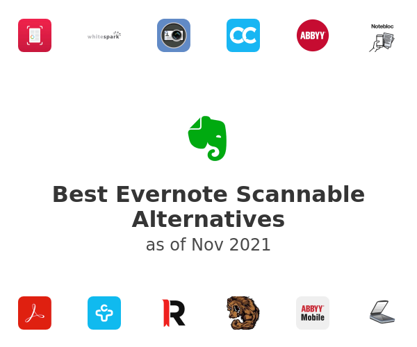 Best Evernote Scannable Alternatives