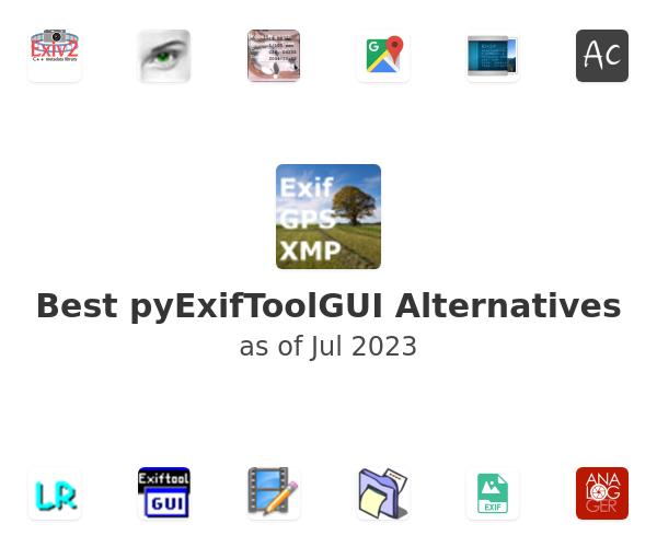 Best pyExifToolGUI Alternatives