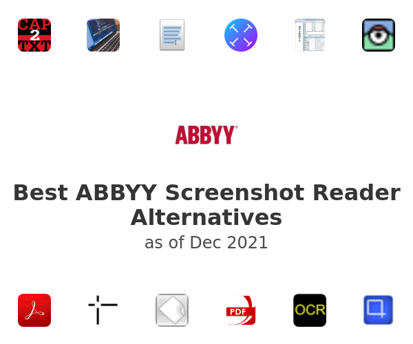 Best ABBYY Screenshot Reader Alternatives