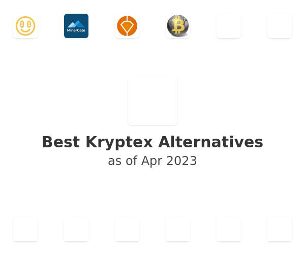 Best Kryptex Alternatives