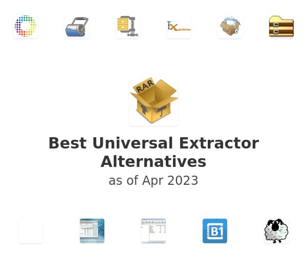 Best Universal Extractor Alternatives